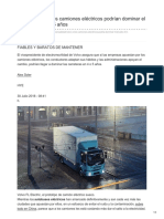 Volvo cree que los camiones eléctricos podrían dominar el mercado en 4 o 5 años.