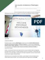 México y EU planean reunión ministerial en Washington por TLCAN