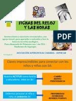 Fichas Reloj y Horas-ALUMNADO ASPERGER PRIMARIA