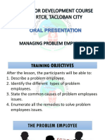 Managing Problem Employees Final