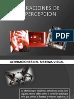 Alteraciones perceptuales