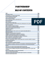 Partnership Table of Contents