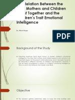 Emotional Intelligence Journal Report