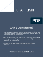 Overdraft Limit