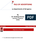 Various Departments of Ad Agency