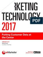 EMarketer Marketing Technology 2017-Putting Customer Data at the Center