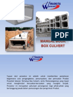 Manual Book Box Culvert