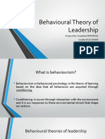 Behavioural Theory of Leadership