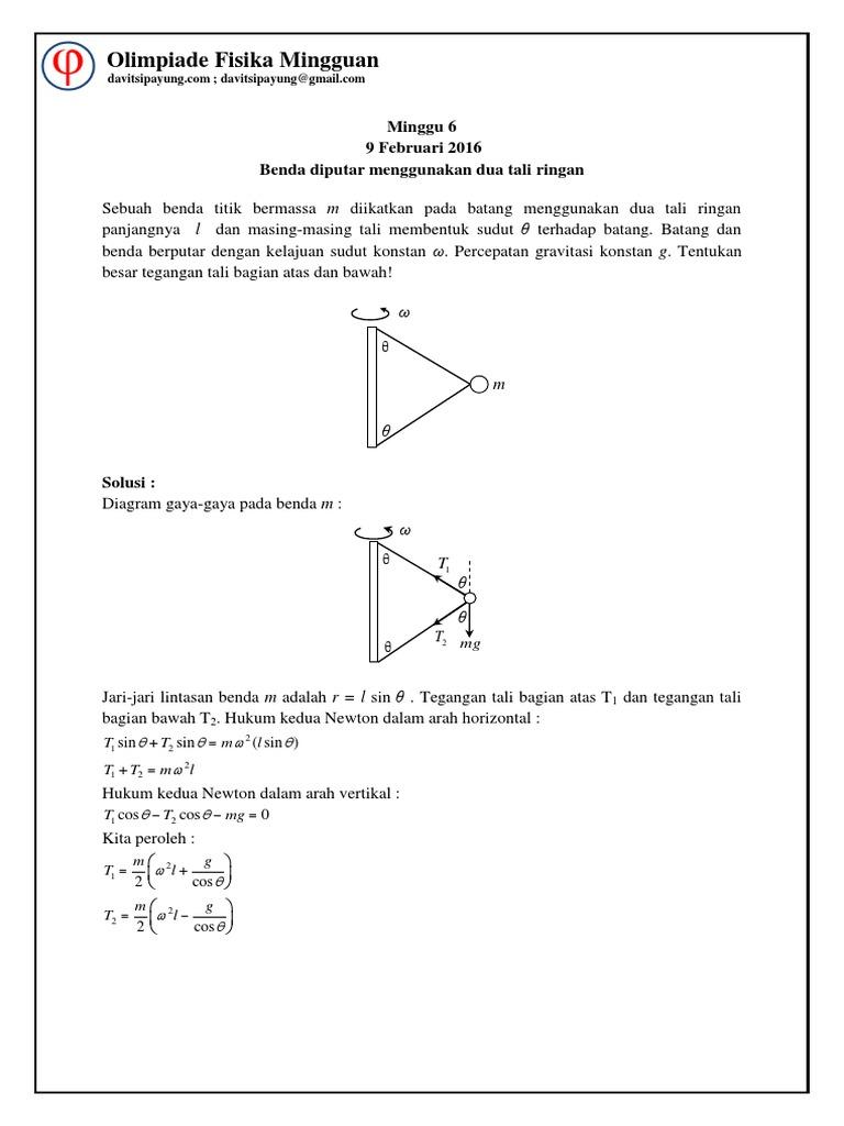 6 benda diputar menggunakan dua tali ringan solusipdf ccuart Gallery