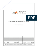 Mpmy-el-spc-1009_2.0_specification for Cable Tray and Ladder