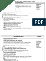 Planejamento Anual de Lingua Portuguesa 4º Ano