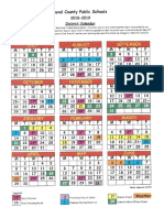 20182019 calendar information