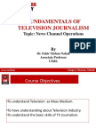News and News Channel Management Ppt