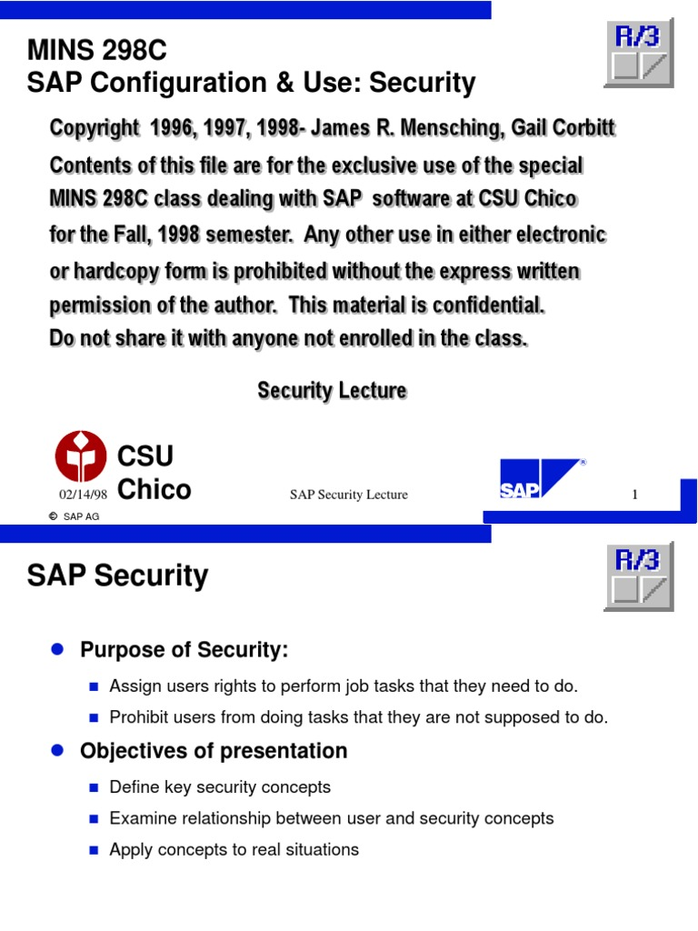 lect7_securityf8 | Sap Se | User (Computing)