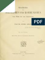 Adler, Georg - Geschichte des Sozialismus und Kommunismus von Plato bis zur Gegenwart