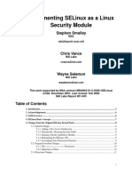 Implementing Selinux as Linux Security Module Report