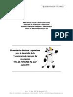 Lineamiento Jornada Julio Cauca 2018