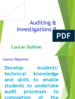 1. AC414 - Audit and Investigations II - Course Outline