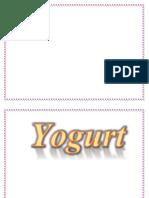 Rotulo Yogurt