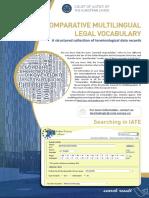 Comparative Multilingual Vocabulary EU En