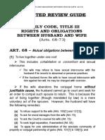 Family Code, Title III, Arts. 68-73