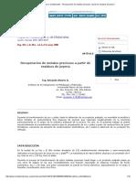 Reporte Metalurgico y de Materiales - Recuperación de Metales