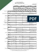 How Great Thou Art (Ed Dickinson) - Full Score