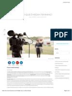 O que é Media Trainning