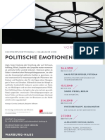 Plakat Vortragsreihe Politische Emotionen 2018 I
