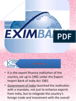 Ppt on Exim Bank