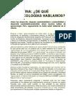 ARGENTINA-De Que Agroecología Hablamos