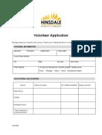 Adult Volunteer Form