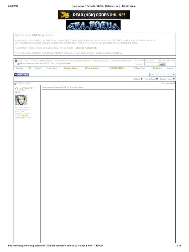 How Convert Formula KDZ for Octoplus-Box - GSM-Forum   Internet