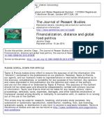 CLAPP, J. (2014) 'Financialization, Distance and Global Food Politics'