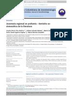 Anestesia Regional en Pediatria
