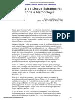 O Ensino de Língua Estrangeira_ História e Metodologia