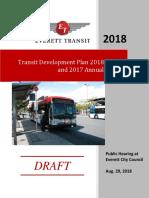 Everett Transit 2018 TDP - Draft