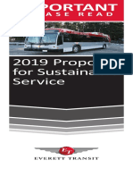 Service Change 2019 Booklet