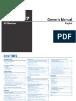 RX V467 Manual