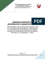 02 Memoria Descriptiva-Arquitectura