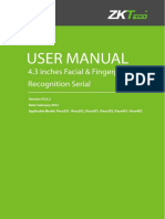 4.3 Inches Facial & Fingerprint Recognition Series Product User Manual V3.0.2EU