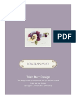 Porcelain Pansy Instructions