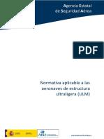 Normativa Aplicable a Las Aeronaves de Estructura Ultraligera-ulm