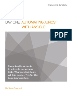 Day One- Automating Junos® with Ansible | Automation | Computer Network