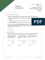 Ecuaciones Lineales Ecuaciones de Primer Grado y Valor Absoluto