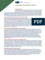2- Pensum Del Especialidad en Planificación Tributaria 2018