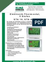 Elektronik - Thermostat, 5 Stufen STA 10, STA - AHK