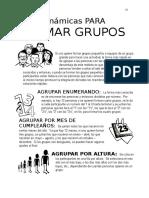 Dinámicas Para Formar Grupos
