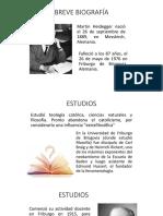 Breve Biografía de Martín Hedegger