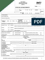 Ficha Unica de Inscripción Al RFIETP - Datos Del Establecimiento